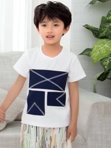 西瓜王子男童撞色T恤