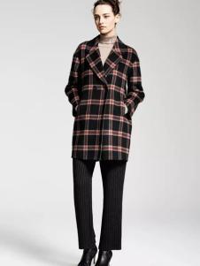 MAAMCHEE缦秋女装格纹外套
