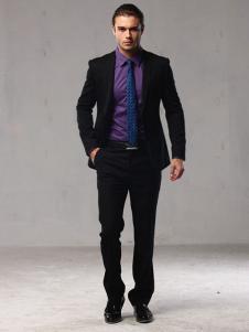 曼维尔男装紫色衬衫
