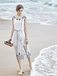 米拉格女装收腰雪纺裙