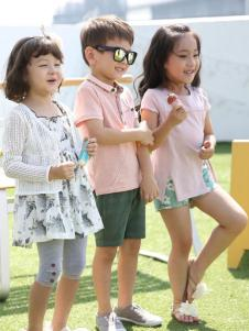 米雅星童装粉色T恤