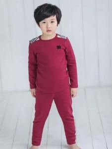 麦吉安琪男童酒红色内衣套装