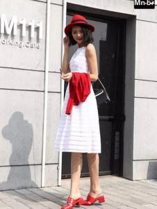 Mn·bf曼诺·比菲2017春夏新品无袖连衣裙