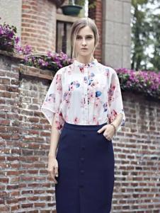 米拉格女装印花衬衫
