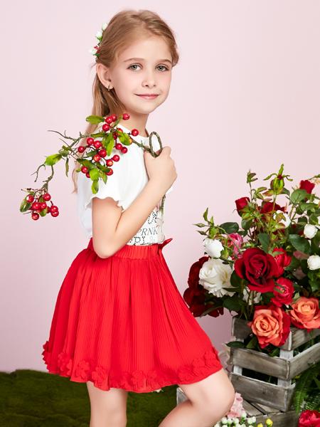 泡泡噜poipoilu红色小短裙