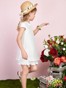 泡泡噜poipoilu白色连衣裙