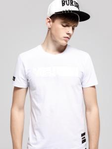 佐纳利男装2017白色T恤