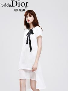 迪奥夏新款唯美白色连衣裙