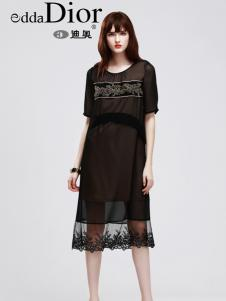 迪奥夏新款黑色时尚连衣裙