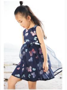 吉象贝儿夏季新款唯美印花裙