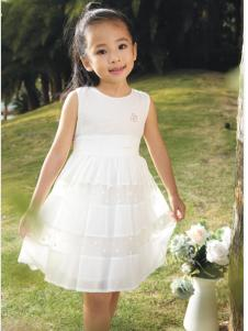 吉象贝儿夏季新款白色公主裙