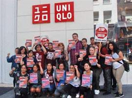 优衣库香港旗舰店遭遇欠薪抗议 被指供应商破产