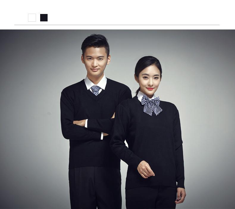 公司白領毛衣,制服毛衣工作服來圖加工定做