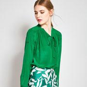 早春清新时尚绿色单品 出街的必备