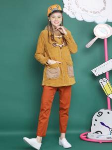 MGGM木果果木女装姜黄色外套