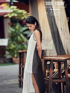 T&W17新款无袖时尚连衣裙
