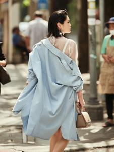 T&W17春秋款新款时尚风衣