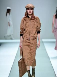 roundtable棕色时尚套装新款