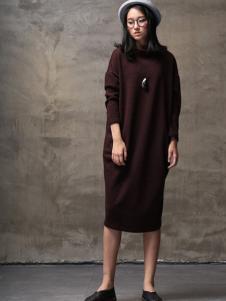 墨曲2017春夏新品廓形收尾连衣裙