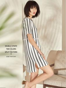 T&W17新款条纹连衣裙