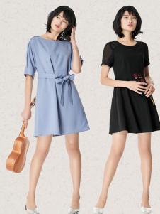 T&W17新款知性甜美时尚连衣裙