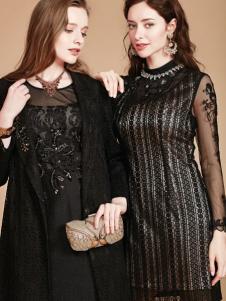 mubo木帛女装黑色修身裙