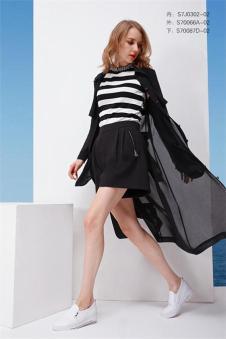 PASSION钡萱春夏新品黑色外罩衫