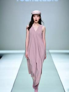 roundtable无袖紫色长款连衣裙