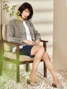 T&W17春新款短款时尚外套