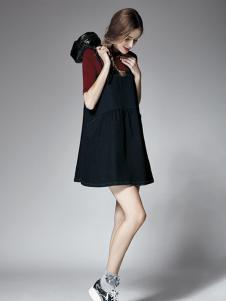 楚阁女装黑色款式连衣裙