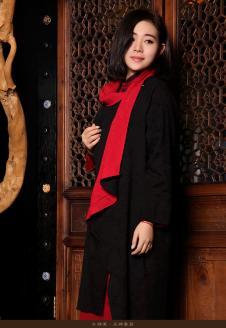 木棉道黑色廓形外套