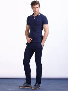 男孩制造MIB男装宝蓝色T恤