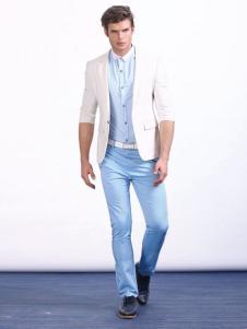 男孩制造MIB男装白色休闲西服外套