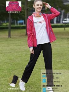 尼高2017运动装新品枚红色外套