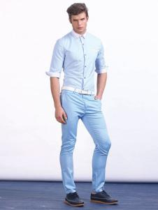 男孩制造MIB男装白色翻领衬衫