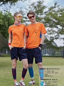 尼高2017运动装新品橙黄色T恤