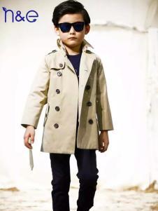 南西象童装男童双排扣风衣
