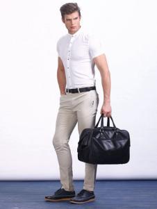 男孩制造MIB男装立领白衬衫