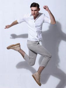 男孩制造MIB男装中袖白衬衫