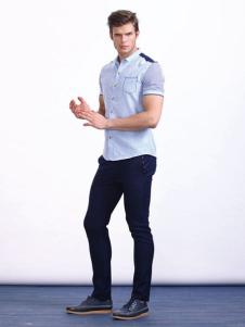 男孩制造MIB男装短袖衬衫