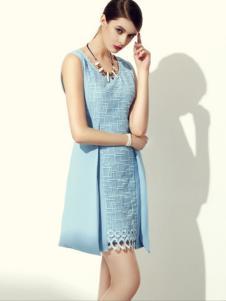 欧力丝女装OLISI欧力丝女装蓝色连衣裙
