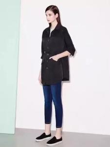 诺兰贝尔女装黑色中袖外套