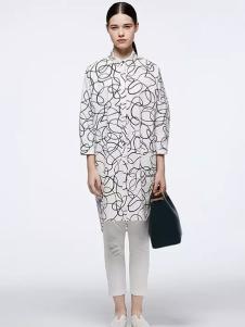 OUDIFU歐蒂芙2017春夏新品幾何圖案襯衫