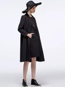 OUDIFU欧蒂芙2017春夏新品黑色女裙