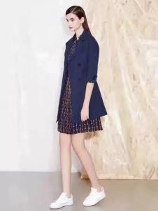 诺兰贝尔女装宝蓝色风衣