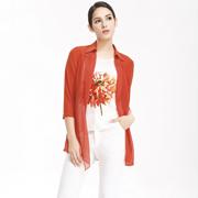维娜女装 橙色的活力与暖意