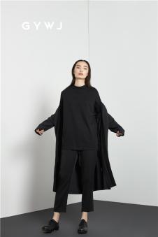 GYWJ己以女装2017春款中长款外套