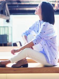 片断女装格纹蓝色衬衫