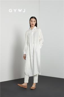 GYWJ己以2017春款长款白衬衫
