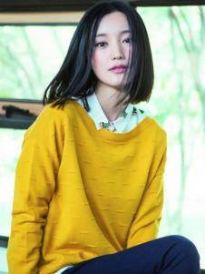 片断女装黄色针织衫